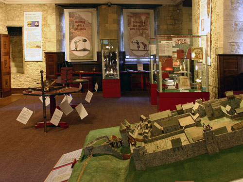 Lower Gallery with Castle exhibits