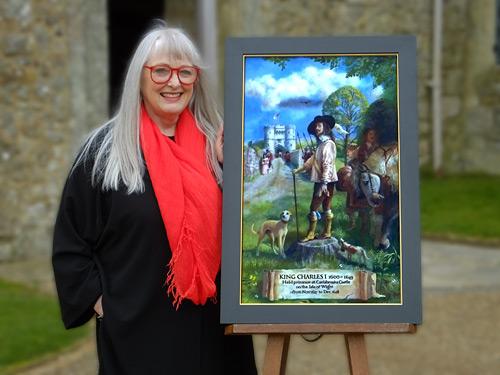 King Charles I portrait by Rita Greer